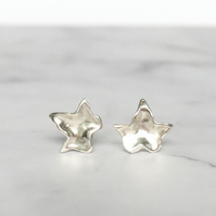 Little silver ivy leaf stud earrings