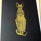 Bastet. Original linocut print ideal gift for lover of Egyptology (or cats!).