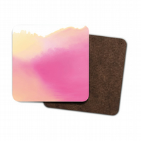 pink watercolour coaster set of 4