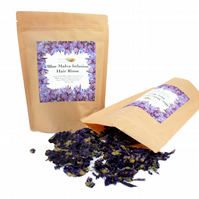 Blue Malva Infusion Hair Rinse for Grey, White and Platinum Hair, Loose Dried Fl