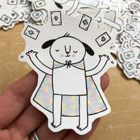 Magic Dog Vinyl Sticker