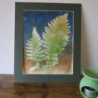 2 Ferns Gelli Print Botanical Mono-type