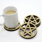 Pentacle Coasters - Set of 4 - Novelty coasters - Pentagram