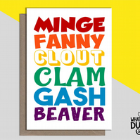 Rude & Funny LGBTQ Card For Birthdays Of Gay, Lesbian Family & Friends