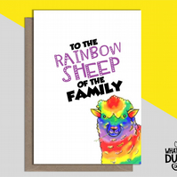 Rude & Funny Homemade LGBTQ Card For Birthdays Of Gay & Lesbian Family & Friends