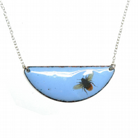 Cute blue bee necklace