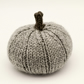 Hand knitted pumpkin pin cushion Grey