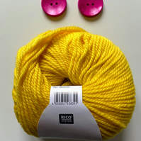 Triple braid headband kit - Knitting, crafts, handmade - Sunshine yellow
