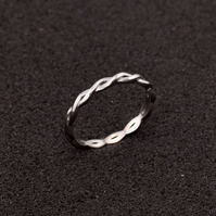 Sterling Silver (925) ring, band ring, ring size O, ring size 7, women ring