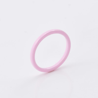 Pink ceramic rings, Ceramic Ring, Elegant ring, ceramic wedding ring, ceramic