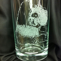 Panda Hi Five, Hand engraved Hi-ball Tumbler, Personalised for FREE
