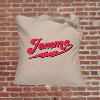 Femme feminist slogan, Independent woman feminist tote bag. Female empowerment r