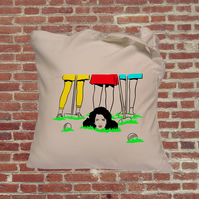 Heathers croquet movie tote bag in colour, cult classic, Winona Ryder, Christan