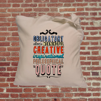 Tote bag, Inspirational quote, hand lettering, funny bag
