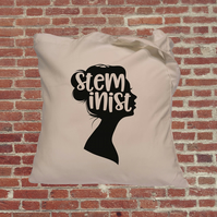 Steminist, Women in Stem Tote Bag, feminist, empowering women