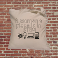 Women in Stem Tote Bag, feminist, empowering women