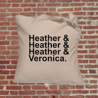 Heathers movie tote bag, cult classic, Winona Ryder, Christan Slater. 80s films
