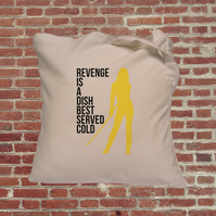 Kill Bill, Uma Thurman, Cult films tote bag, tote, The Bride, Quentin Tarantino