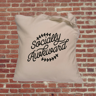 Funny tote bag, socially awkward, funny slogan, personal space, empowerment, gre