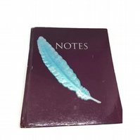 Feather bookmark pastel turquoise and pearly white.