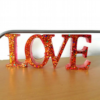 Love sign free standing word home decor.