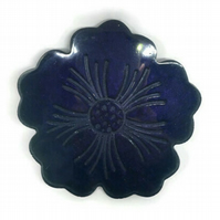 Purple night sky flower shimmer coasters choose set of 2 or 4 coasters.