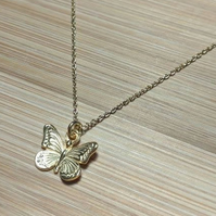 butterfly pendant butterflies necklace gold silver 925