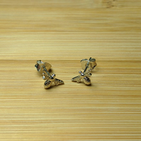 Bee stud earrings sterling silver honey bumble Manchester