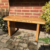 Solid Oak Bench, Handmade with quality oak