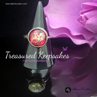 Cremation Ring, Ashes in Glass Keepsake Remembrance Ring, Memorial Jewellery