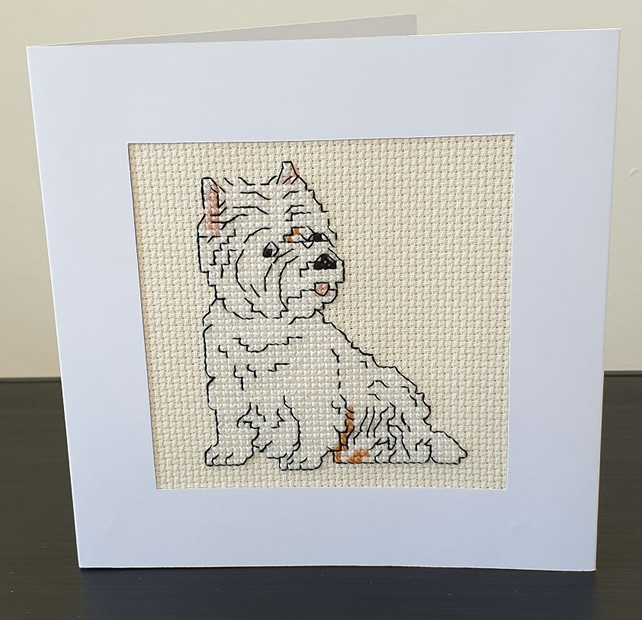 Cross Stitch Card Kit - Westie - West Highland Terrier