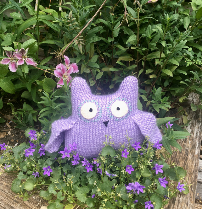 Baby shower owl gift - newborn gift - Lavender colour owl - stuffed plush toy -