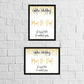 Golden (50th) wedding anniversary personalised print
