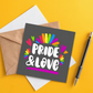 LGBTQ card: Pride and love