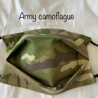 Superior Quality Camouflage Army Face Mask Cover with filter pocket. Machine was