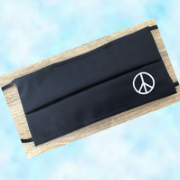 Peace Embroidered Logo Face Masks. Superior Quality. Adult or child sizes. Buyer