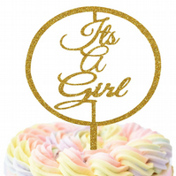 Its A Girl Cake Topper, New Baby Girl Celebration Cake Topper!!