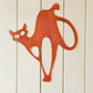 Rusty Cat Spooked, Garden Decor, Wall Hanging, House Decor Rusty Garden Decor, G
