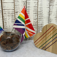 Pride wooden oak heart- LGBT