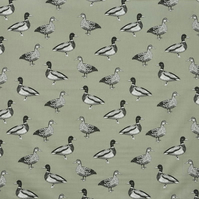 Ducks Sage Roller Hand Towel