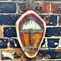 Abstract mask wall hanging, wooden mask, reclaimed wood mask art, wall art, moun