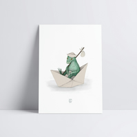 Little Lizard Adventure Art Print