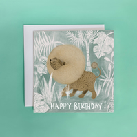 Happy Birthday Lion Greeting Card