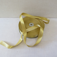 25mm double faced satin ribbon - colour GOLD - x 5 Metres