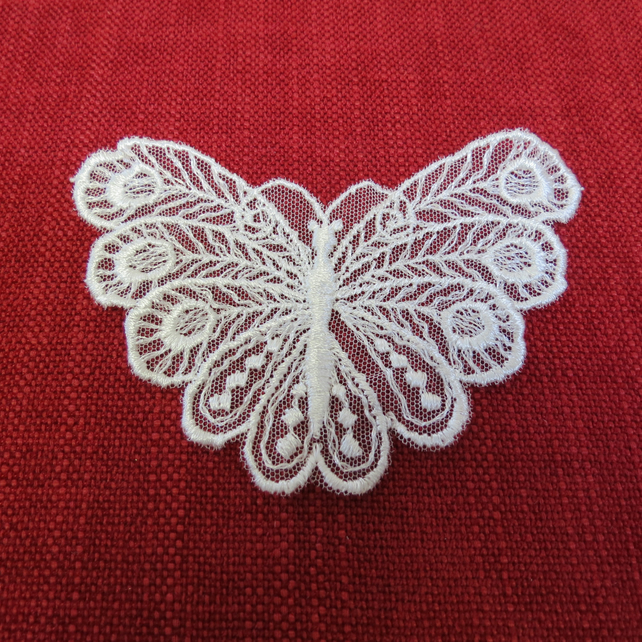 Ivory Lace Butterfly Motif , Sewing and Craft Motif ,Fine Lace.,,Haberdashery