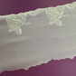 Cream Embroidery on organza 4.5 inch wide sold by the metre