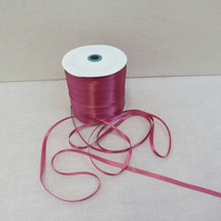 7mm double sided satin ribbon colonial rose colour x 5 metres