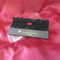 Black Lace Garter Nottingham Lace for Hen Night, Steam Punk or Wedding