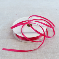 50m Reel of 3mm wide Cerise Ribbon,Double Sided Satin Ribbon,Sewing Supplies