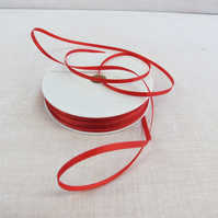 50m Reel of 3mm Wide Red ribbon,Double Sided Satin Ribbon,Sewing Supplies